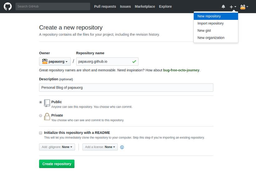 Create new Github repository
